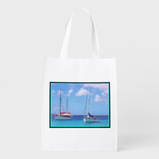 Reusable Grocery Bag with sea scenery