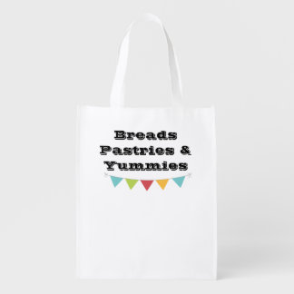 Reusable Grocery Bags with Label - Breads