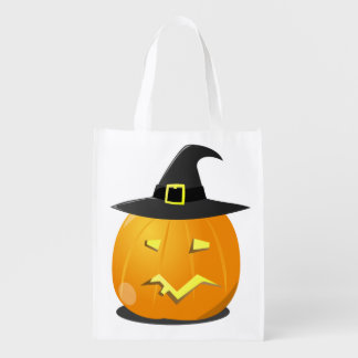 Reusable Halloween Bag with Jack o' Lantern Witch