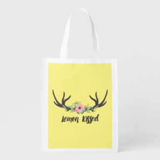 Reusable Lemon Kissed Grocery Bag