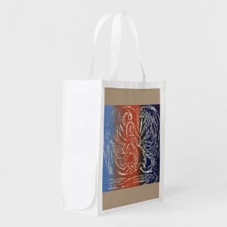 Reusable Shopping Bag with Tribal Print
