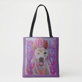 reusable shopping/tote bag with dog design