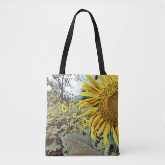 reusable shopping/tote bag with sunflower design