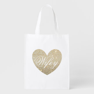 Reusable Tote - Heart Fab Wifey Market Tote