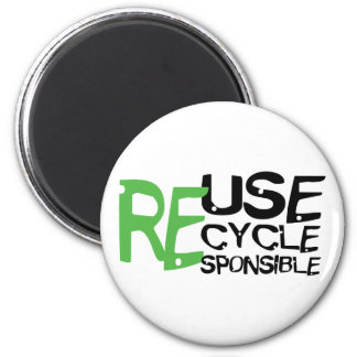 Reuse Recycle Responsible Refrigerator Magnets