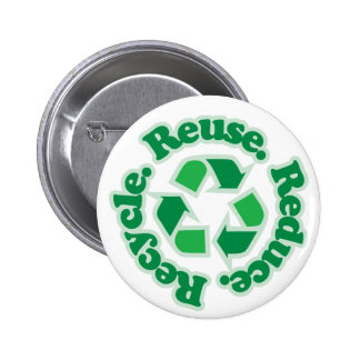 Reuse Reduce Recycle 6 Cm Round Badge