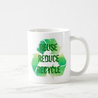 Reuse Reduce Recycle Basic White Mug