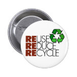 Reuse Reduce Recycle button