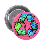 Reuse, Reduce, Recycle Earth Day Gifts Button