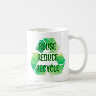 Reuse Reduce Recycle Classic White Coffee Mug