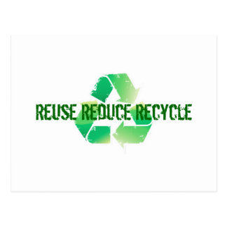 Reuse Reduce Recycle Post Cards