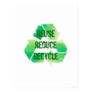 Reuse Reduce Recycle Postcard