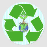 ReUse ReDuce ReCycle Round Stickers