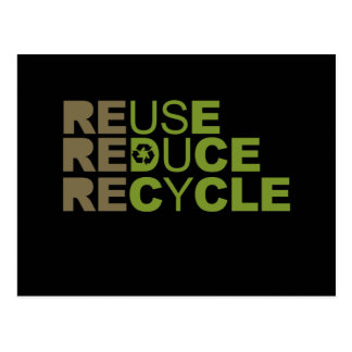 Reuse Reduce Recycle T-shirt Postcard