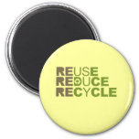 Reuse Reduce Recycle T-shirt Refrigerator Magnet