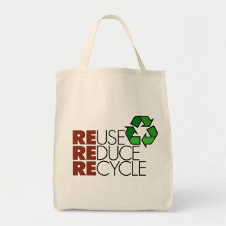 Reuse Reduce Recycle totebag Tote Bag