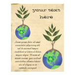 Reuse Reduce Recycle Tree Earth Globe 21.5 Cm X 28 Cm Flyer