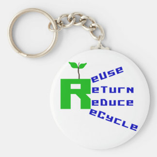 Reuse Return Reduce Recycle Keychain