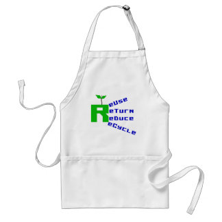 Reuse Return Reduce Recycle T-shirts and Gifts Adult Apron