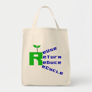 Reuse Return Reduce Recycle T-shirts and Gifts Canvas Bag