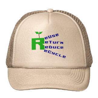 Reuse Return Reduce Recycle T-shirts and Gifts Trucker Hats