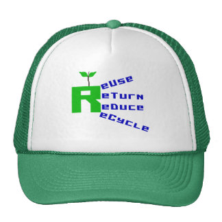 Reuse Return Reduce Recycle T-shirts and Gifts Hats