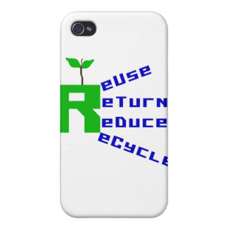 Reuse Return Reduce Recycle T shirts and Gifts iPhone 4 Covers