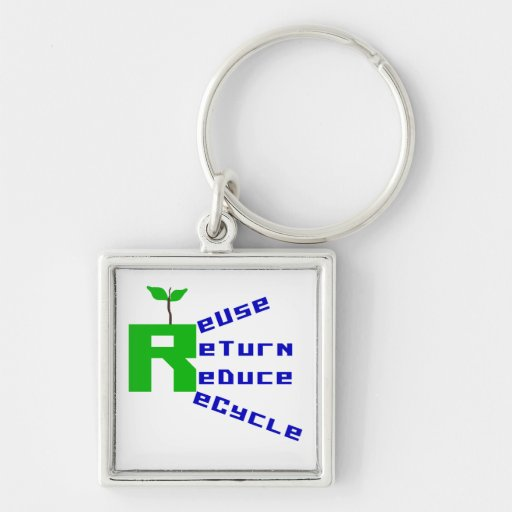 Reuse Return Reduce Recycle T shirts and Gifts Key Chains