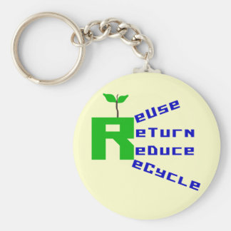 Reuse Return Reduce Recycle T-shirts and Gifts Keychain