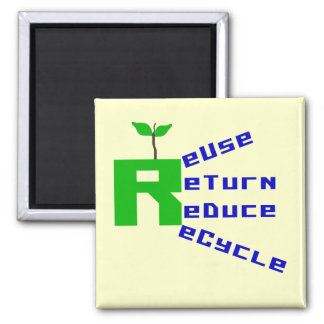 Reuse Return Reduce Recycle T-shirts and Gifts Fridge Magnet