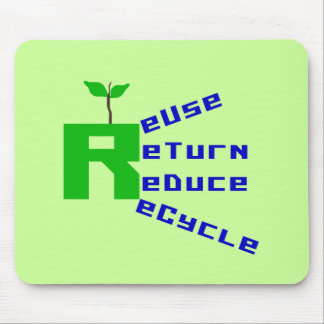 Reuse Return Reduce Recycle T-shirts and Gifts Mouse Pad