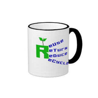 Reuse Return Reduce Recycle T-shirts and Gifts Ringer Coffee Mug