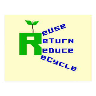 Reuse Return Reduce Recycle T-shirts and Gifts Postcards