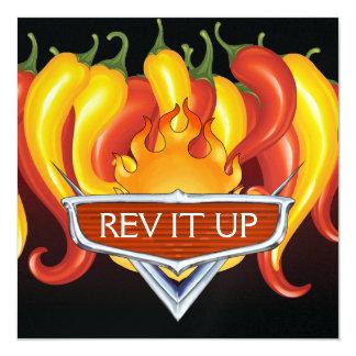 Rev It Up! - BBQ - Barbecue 13 Cm X 13 Cm Square Invitation Card
