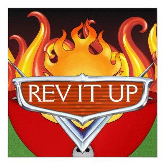 Rev It Up! - BBQ - Chili Cook-Off 13 Cm X 13 Cm Square Invitation Card