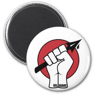 Rev Shakes Spear Fist Logo Refrigerator Magnets