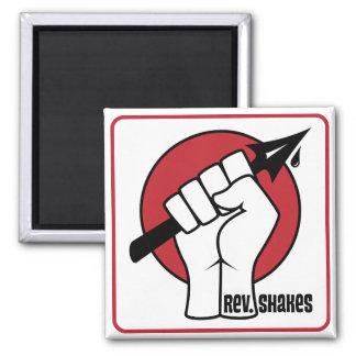 Rev Shakes Spear Logo Square Refrigerator Magnets