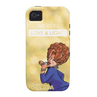 Rev. Yolanda - Living in Love & Light Case-Mate iPhone 4 Cases
