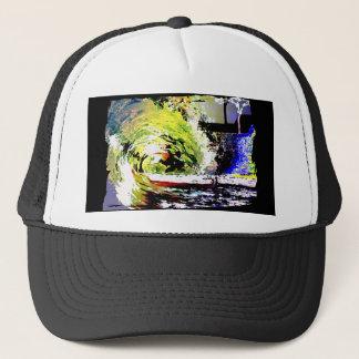 Revamped Classic Neon 80s  Summer Wave Trucker Hat