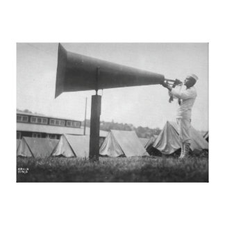 Reveille - Navy Training, Seattle (ca 1917) Canvas Print