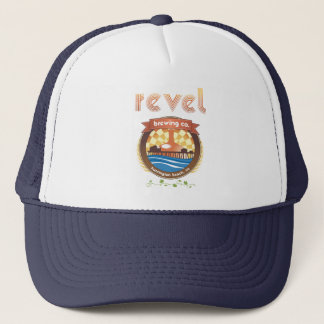 revel brewing keep on truckin trucker hat
