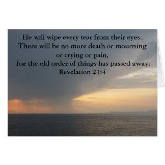 Revelation 21:4 greeting card