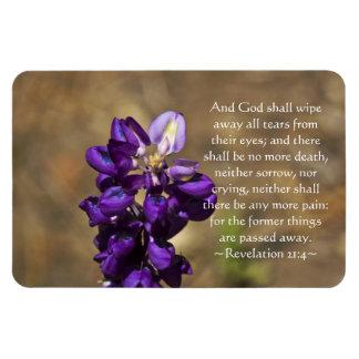 Revelation 21:4 rectangular photo magnet