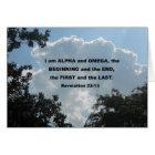 Revelation 22:13 I am Alpha and Omega... Card
