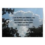 Revelation 22:13 I am Alpha and Omega... Greeting Cards