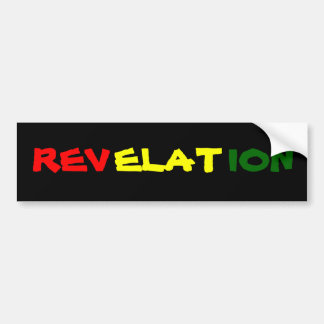REVELATION BUMPER STICKER