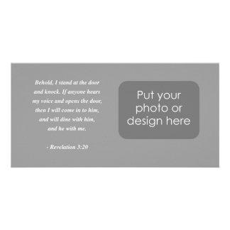REVELATIONS 3 20 Bible Verse Photo Cards