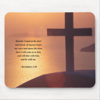 REVELATIONS 3:20 MOUSE PAD