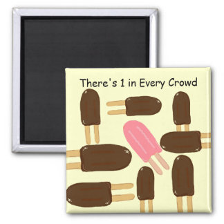 Revells and Popsicles Square Magnet