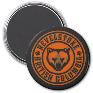 Revelstoke Grizzly Circle Magnet